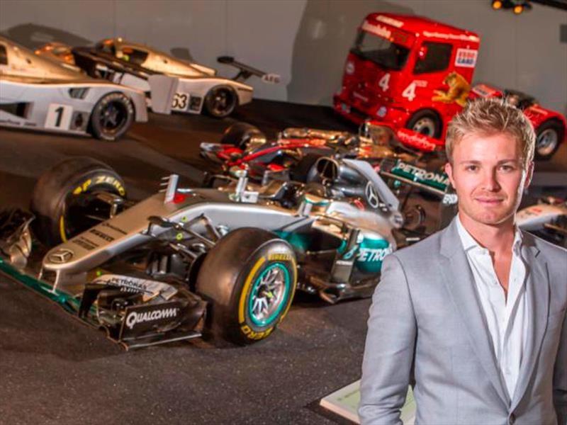 Rosberg y su F1 W07 llegan al Museo de Mercedes-Benz