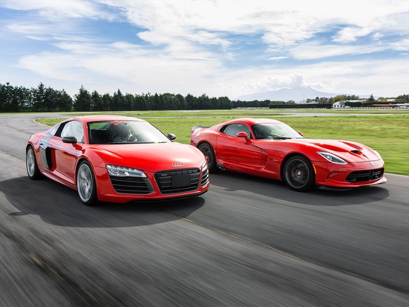 Comparativa: Audi R8 V10 Plus vs SRT Viper GTS
