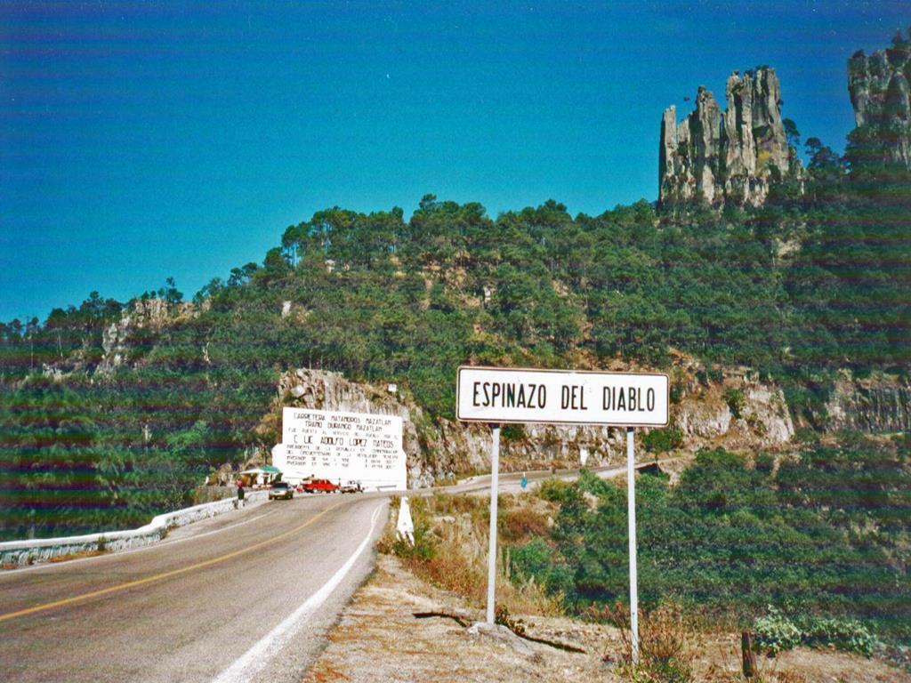 La carretera del Espinazo del Diablo va de Durango a Mazatlán.