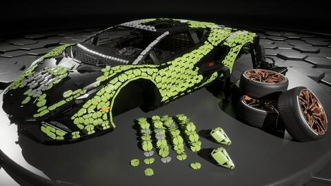 Lamborghini Sián FKP 37 a escala 1:1 Lego