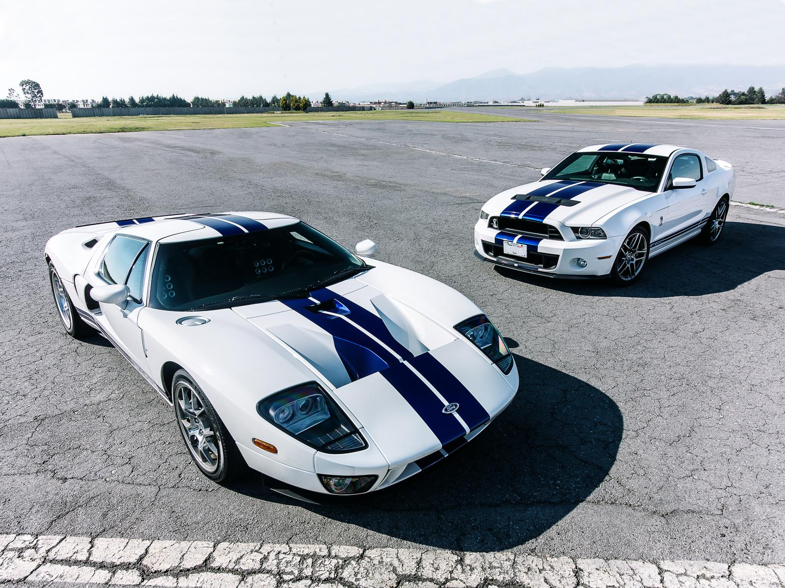 comparativa ford mustang shelby gt500 vs ford gt. Black Bedroom Furniture Sets. Home Design Ideas