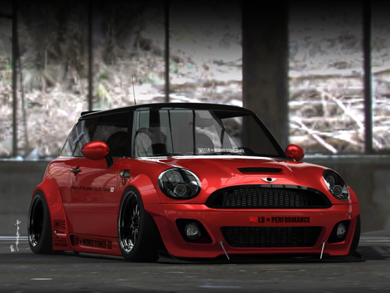 mini cooper por liberty walk con modificaciones intensas. Black Bedroom Furniture Sets. Home Design Ideas