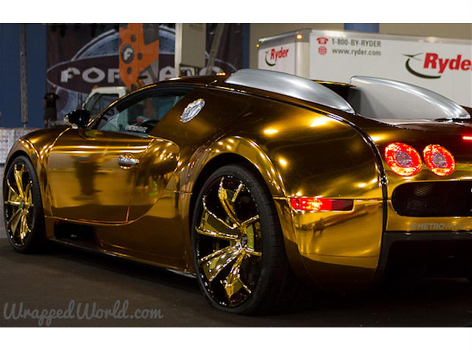 Rapero Flo Rida Viste De Oro Su Bugatti Veyron Autocosmos Com