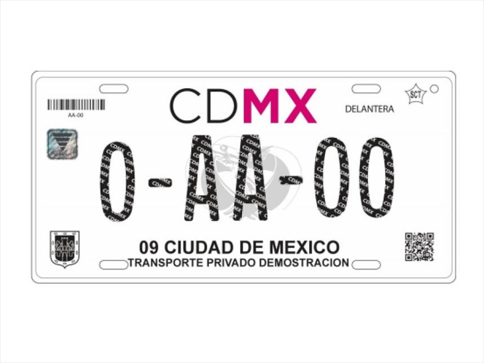 Así son las nuevas placas de la CDMX - Autocosmos.com