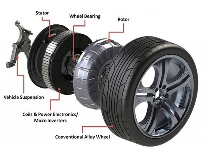 Autos con motores en las ruedas