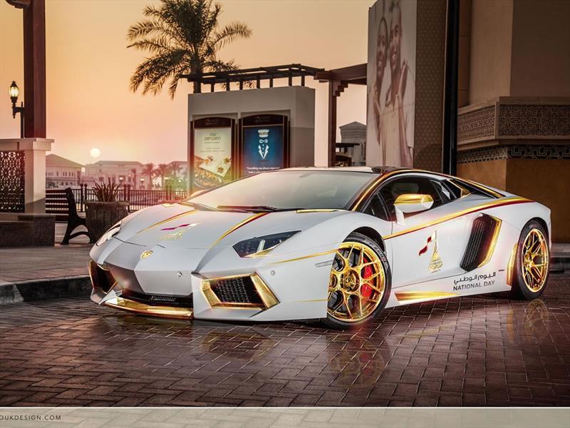Lamborghini Aventador Roadster Golden