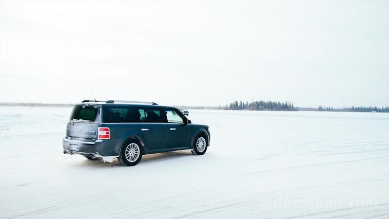Manejando en caminos de hielo