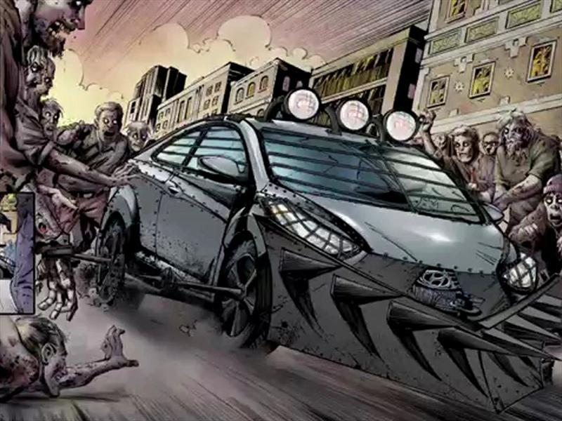Hyundai Elantra Coupé Zombie Survival Machine