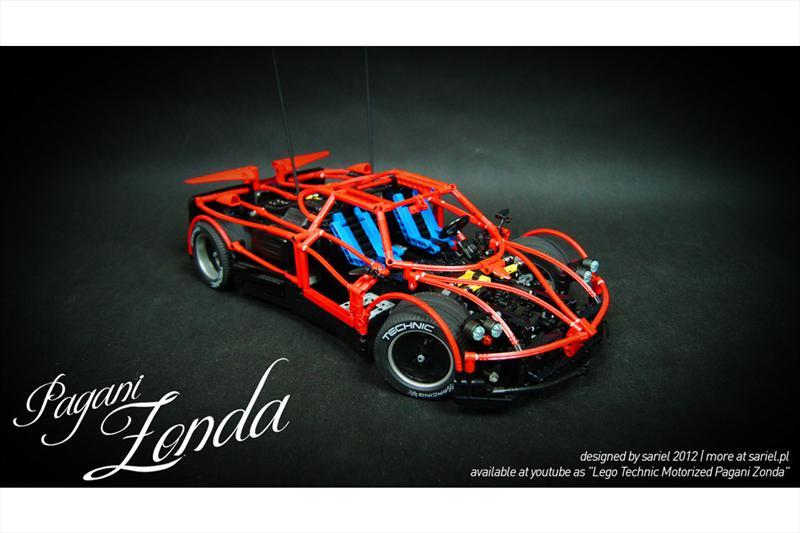 Pagani Zonda de piezas de LEGO