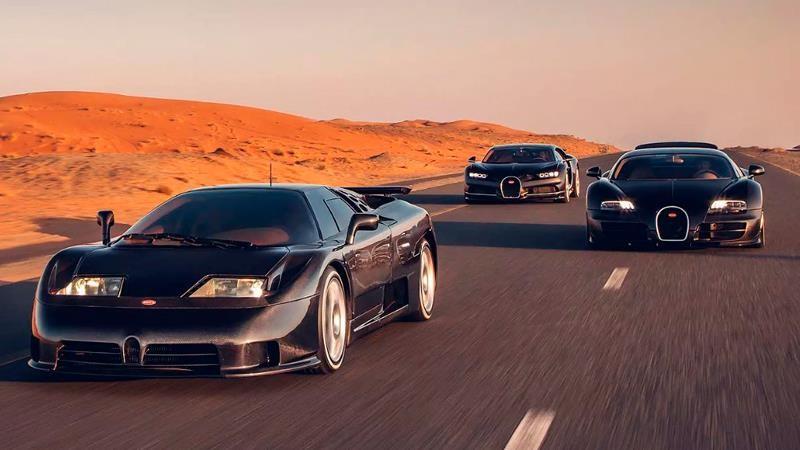 Bugatti EB110, Veyron 16.4 y Chiron