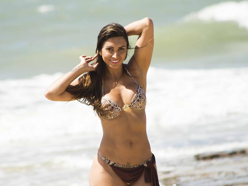 Helena Soares, la musa del rally brasileño
