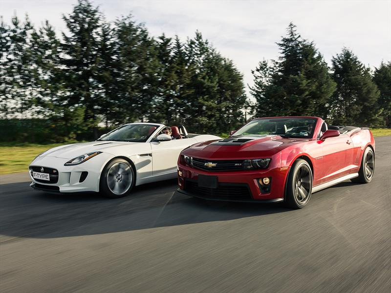 Jaguar F-Type vs Chevrolet Camaro ZL1 convertible