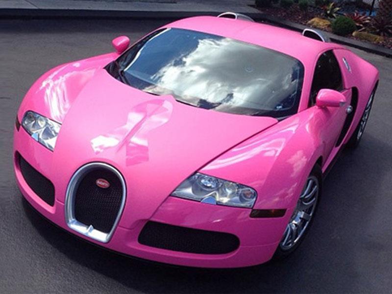 Flo Rida viste su Bugatti Veyron de rosa