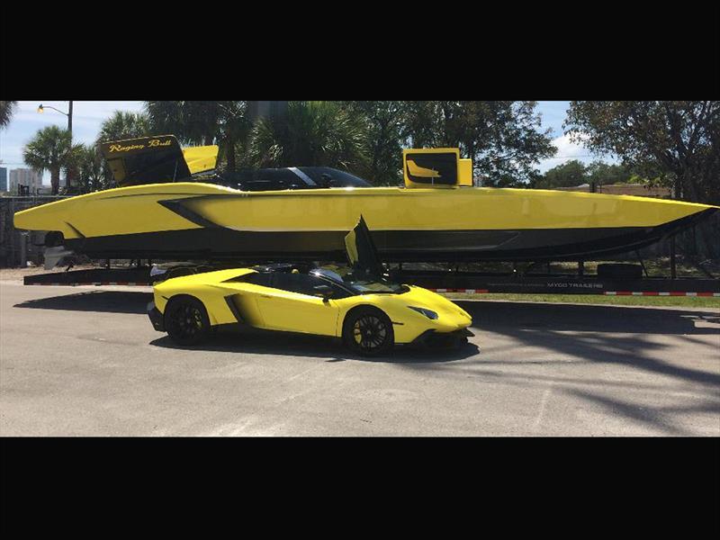 Lancha inspirada en Lamborghini con 2,700 Hp
