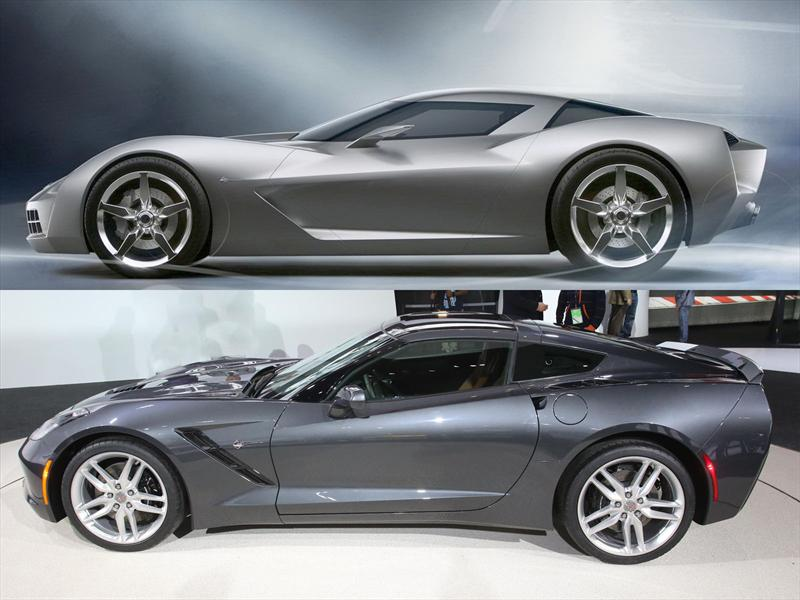 Concept vs. Corvette C7: Lateral