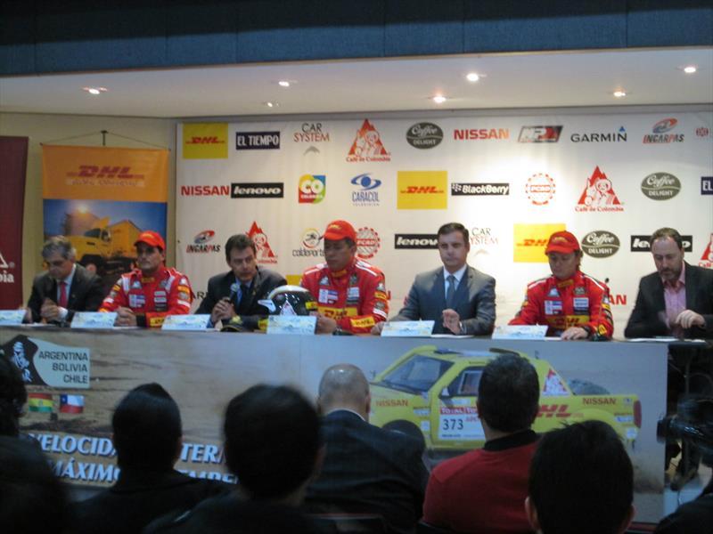 Equipo colombiano para el Dakar 2015