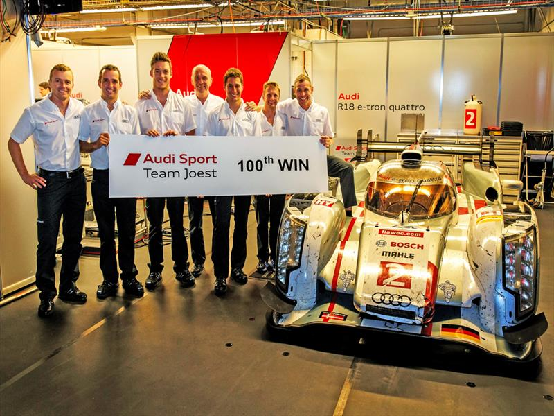 100 victorias de Audi en prototipos de Le Mans