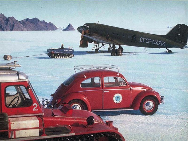Volkswagen Vocho en la Antártida