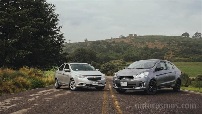 Chevrolet Aveo VS Mitsubishi Mirage G4