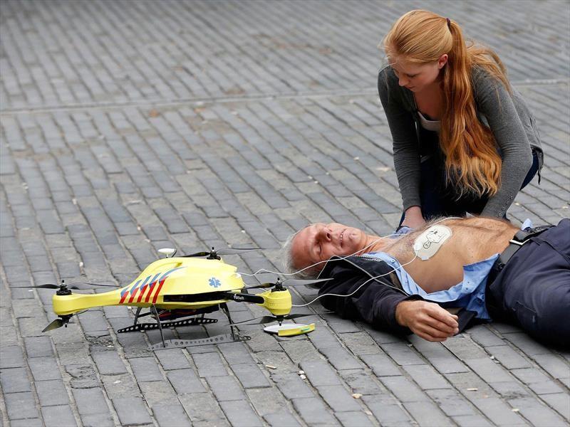 Drone ambulancia en Argentina