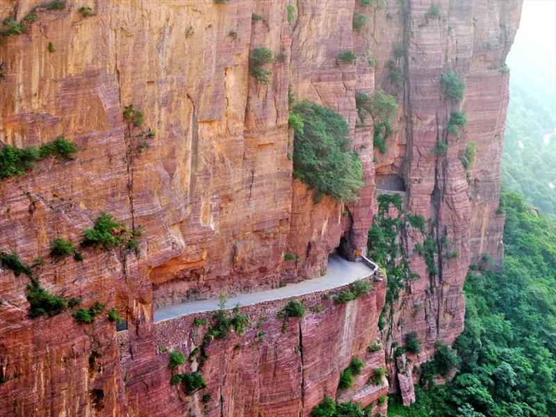 Top 10: Carretera/tunel Guoliang - China