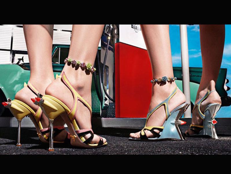 Prada y sus zapatos estilo Cadillac de los 50s