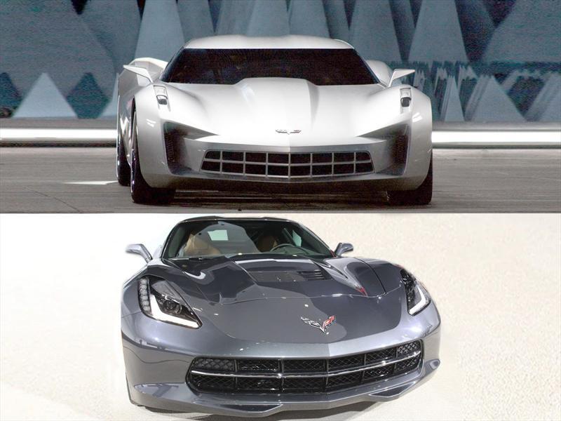Concept vs. Corvette C7: Frente