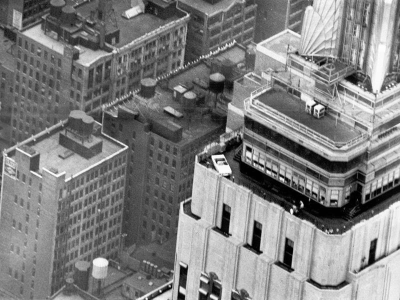 Un Mustang en el Empire State en NY