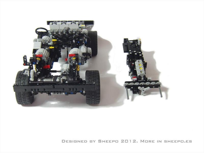 Land Rover Defender 110 con piezas de LEGO