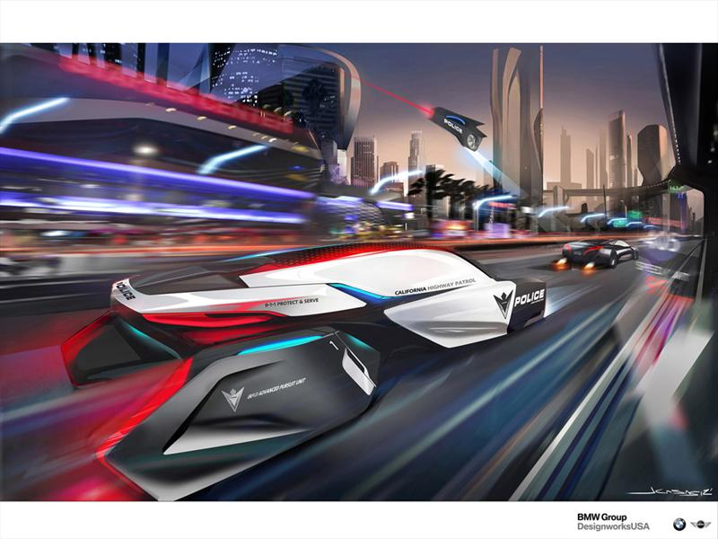 BMW E-Patrol (Human-Drone Pursuit Vehicle)