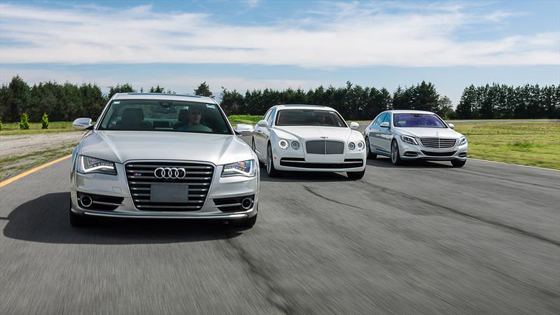 Audi S8 vs Bentley Flying Spur vs Mercedes S500