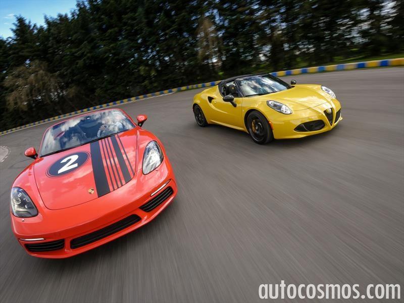 e6c3d2fd06d5 Porsche 718 Boxster Vs Alfa Romeo 4C Spider