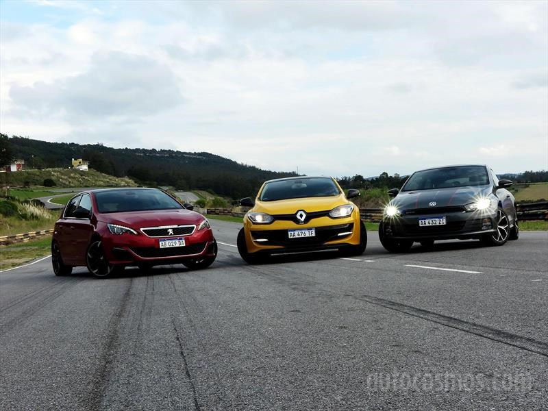 Peugeot 308 S GTi, Renault Megane RS, VW Scirocco