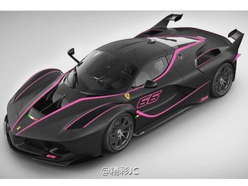 Ferrari FXX K rosa con negro