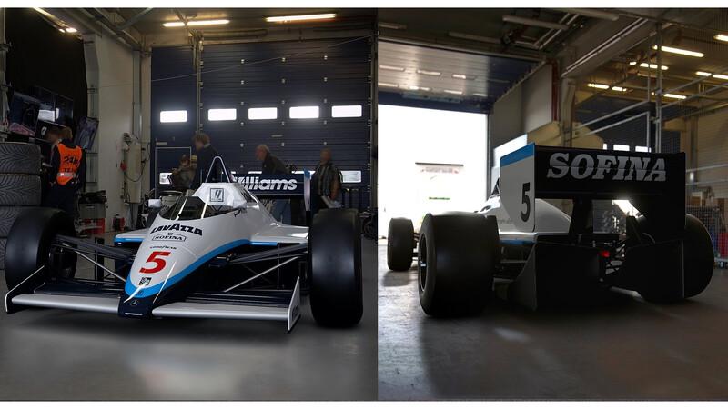 Decoraciones de F1 actuales en máquinas de los 80