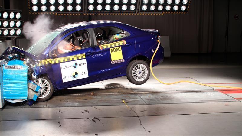 Ford Figo 2019 prueba de impacto Latin NCAP