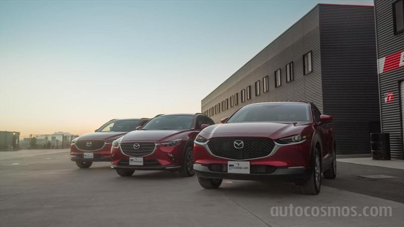 Mazda CX-30 con CX-3 y CX-5
