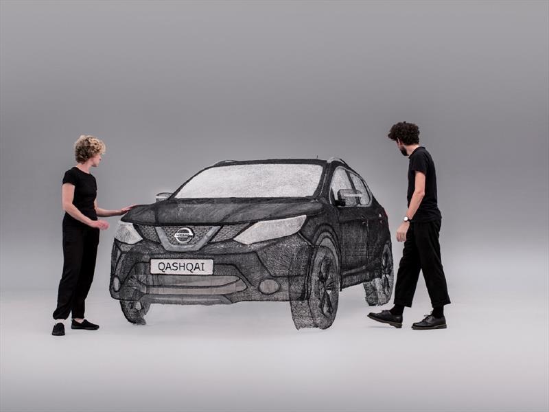 Nissan Qashqai hecho con una pluma 3D