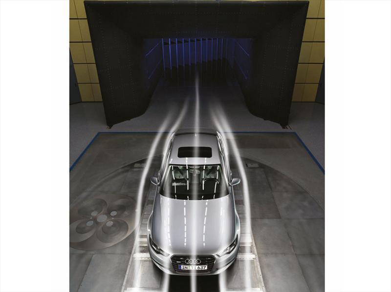 Audi A6 en el túnel de viento