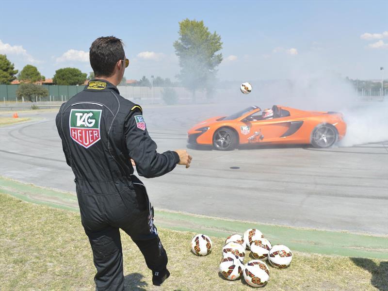 Jenson Button y CR7 dan espectáculo en Jarama