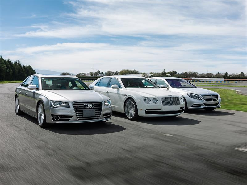 Audi S8 vs Bentley Flying Spur vs Mercedes S500