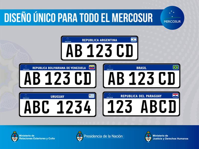 La nueva patente Mercosur es oficial