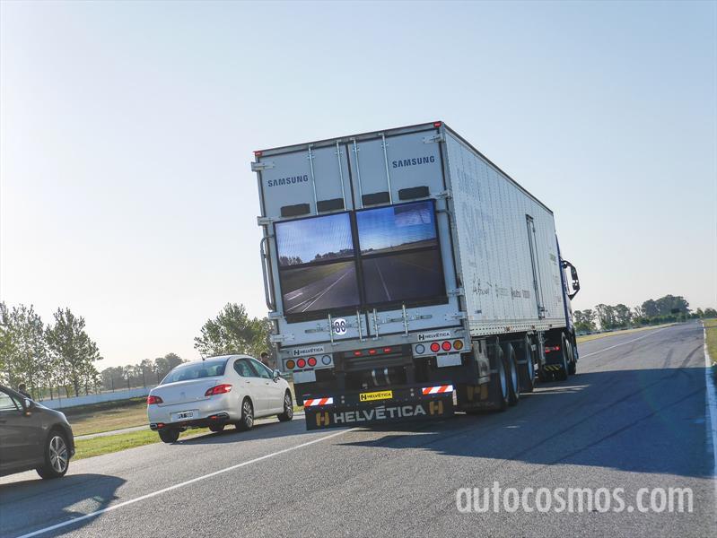 Samsung Safety Truck, presentación en Argentina