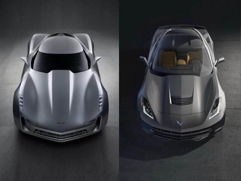 Concept vs. Corvette C7: Superior Delantero
