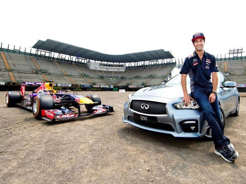 Ricciardo y Sainz previo al GP de México