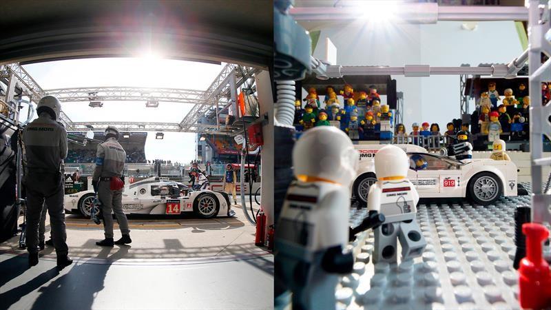 Imágenes icónicas de Porsche con figuras de Lego