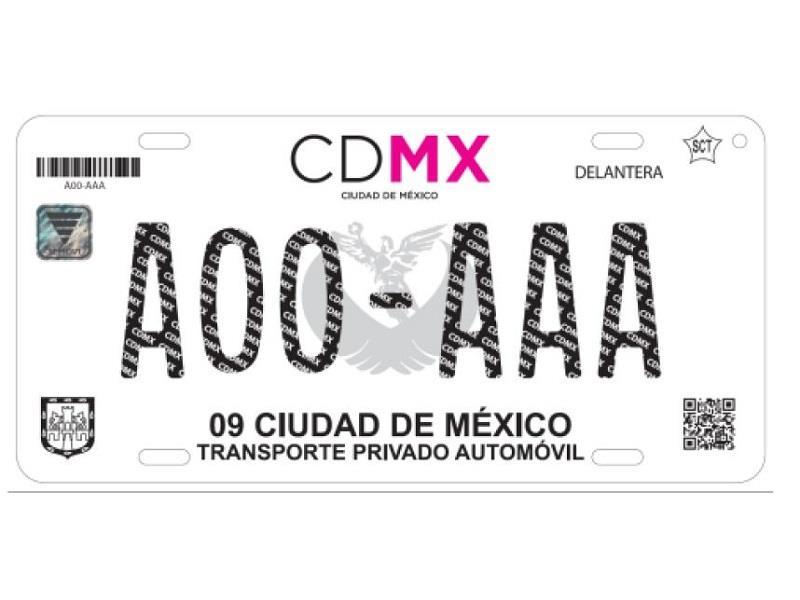 Nuevas placas CDMX