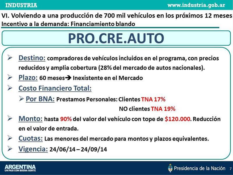 ProCreAuto el plan del Gobierno para llegar al 0km