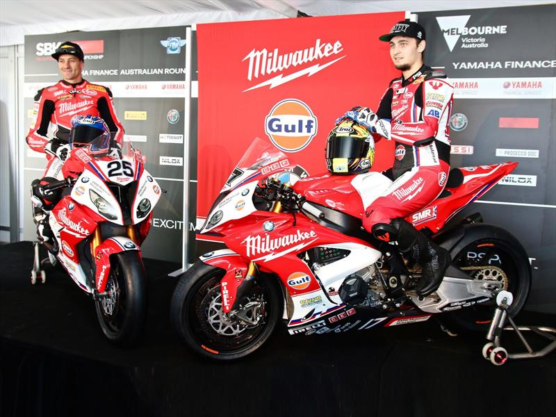 BMW y Gulf Oil en el equipo Milwaukee de Superbike