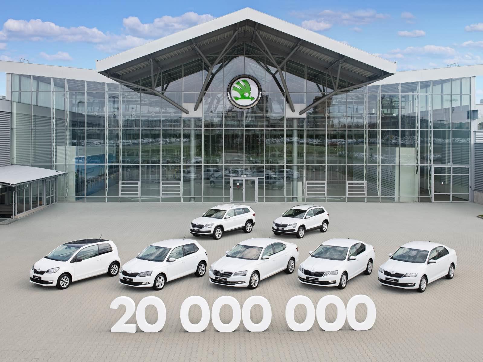 Skoda produce su unidad 20 millones